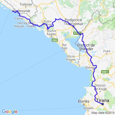 Dubrovnik - Tirana