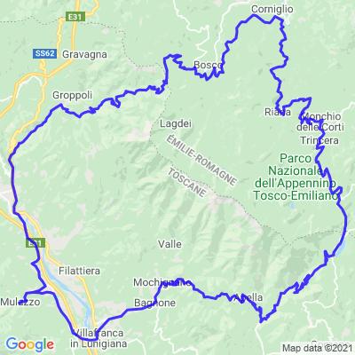 Nord de la Toscane Lunigiana