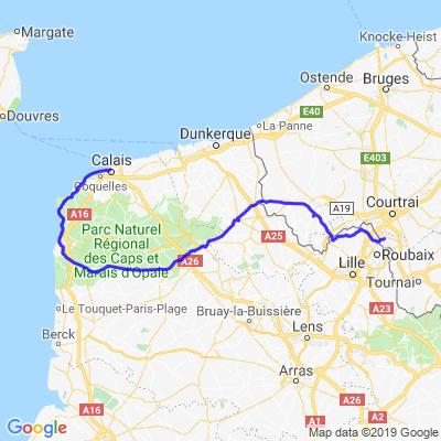 Mouscron - Calais