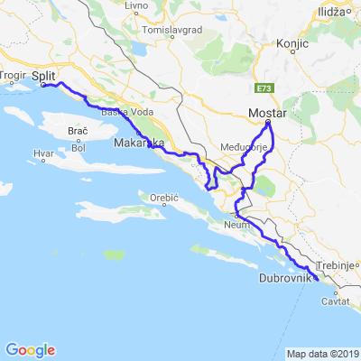 Split-Mostar-Dubrovnik