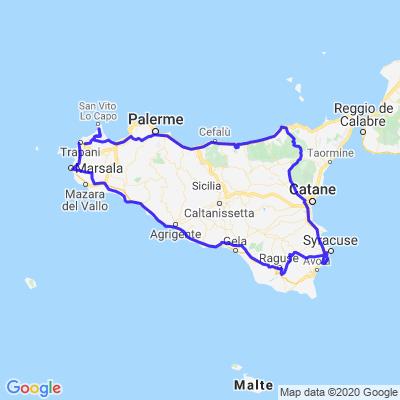 Tour de la Sicile Mai 2019