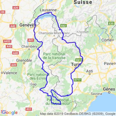 Suisse - France - Italie - Suisse