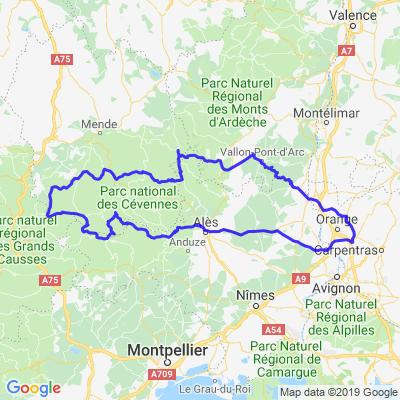 Cevennes/ Mt Aigoual / gorges du tarn / gorges de l'Ardeche