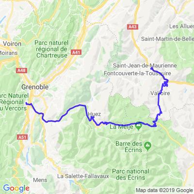 Villarg-Claix par col du Galibier