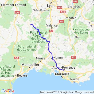 Aix-en-Provence - Le Puy-en-Velay via Mont Gerbier-de-Jonc J1