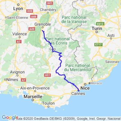 # Route Napoléon (N85) par le Lac de Serre-Ponçon / Grenoble