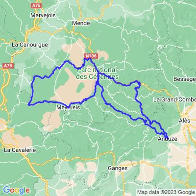 Boucle Mialet / Le Rozier (280 Kms)