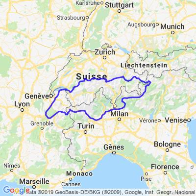 Tour des Alpes via Col du Stelvio