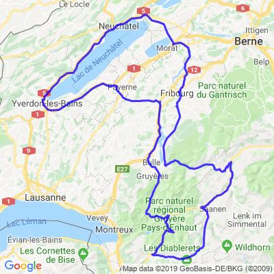Boucle Cortaillod - Gstaad par les cols