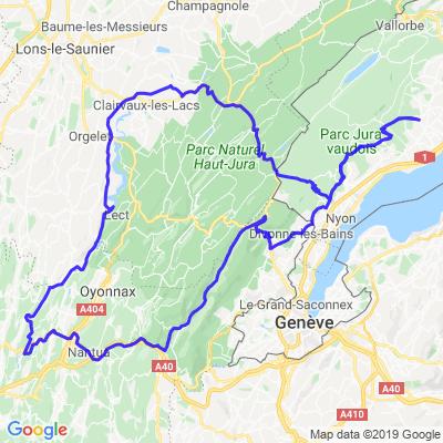 Les Rousses - Clairvaux-les-Lacs - Route des Lacs - Gex