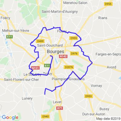 Boucle autour de Bourges