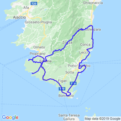 Pointe sud de la Corse