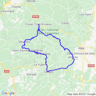 Boucle Mialet / Meyrueis (230 Kms)