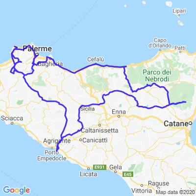 1000 km en Sicile