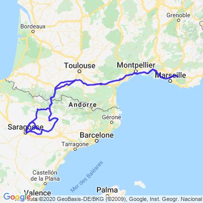 Trets (13) - Désert Los Monegros (ESP)- parcours utilisant des chemins