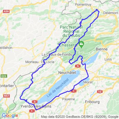 Yverdon-Jura-Tour du lac Neuchâtel