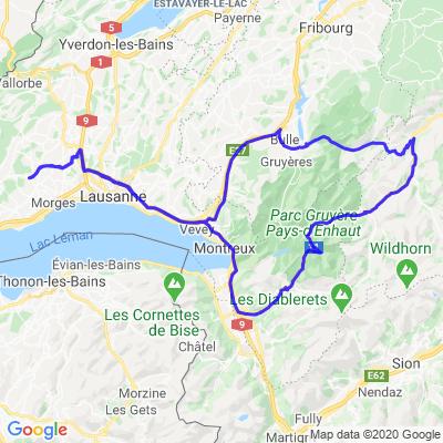 Autouroute - Aigle - Les Mosses - Jaun - Bulle - Autouroute