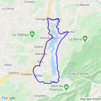 Tour du lac de la Gruyère
