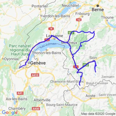 Genève-Vaud-Valais-Vaud-Genève