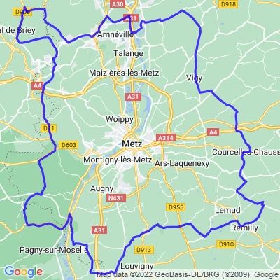 Balade en boucle autour de Metz