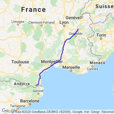 Séjour Pyrénées & Cévennes 2020 - Aller