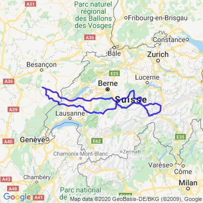 Interlaken et trio de cols suisses +de 2000m