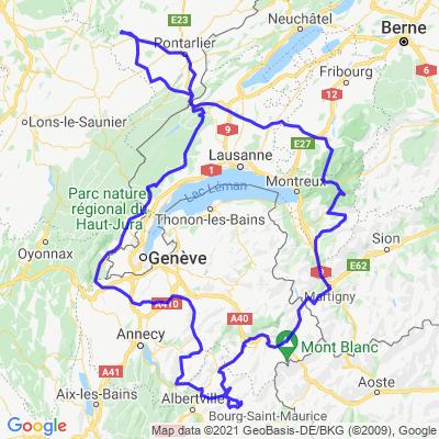 Boucle Suisse Savoie Jura