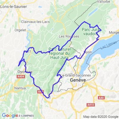 Chaine du Jura- franche compté- col Marchairuz- vigne-finir par l autoroute et la source de divonne