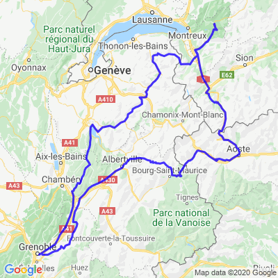3 jours Grenoble>château d'Oex>Aoste>Grenoble