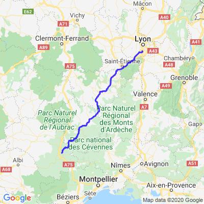De Lyon à Millau