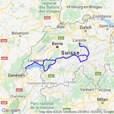 Mosses - Grimsel - Furka - Lucerne - Susten