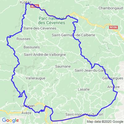 Boucle Mialet / L'Esperou (190 Kms)