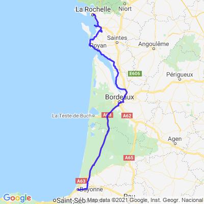 Road-trip 2021/ ETAPE 8: Bayonne- La Rochelle