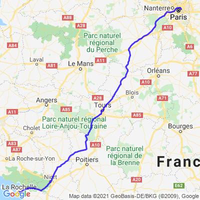 Road-trip 2021/ ETAPE 9: La Rochelle- Paris