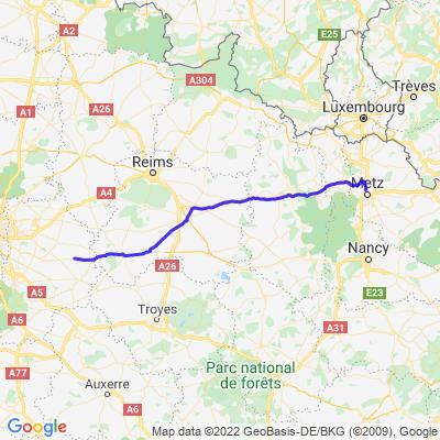 Etape 1- Budweiss 2021 - Montlhéry-Metz