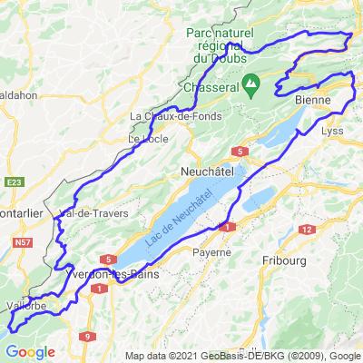 Quatre lacs sur suisse