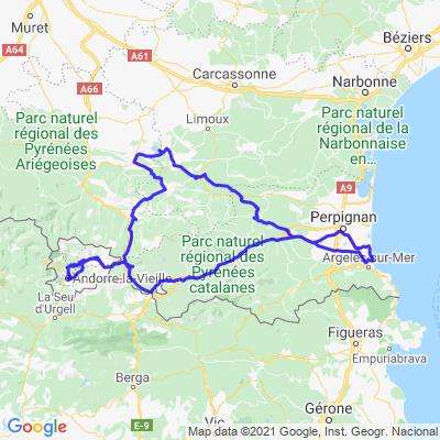 Argelès, lac de montbel, ax les therme, andorre
