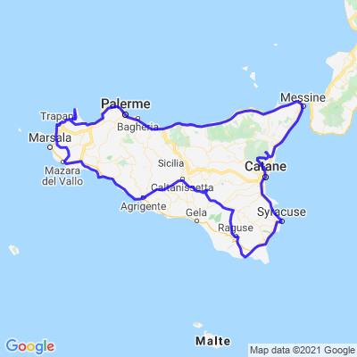 Tour de Sicile et Etna