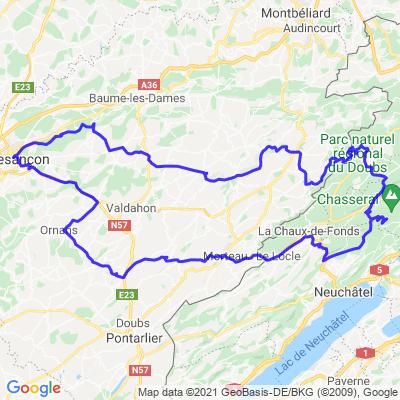 Besançon - le Chasseral (Suisse)