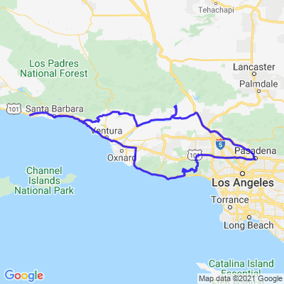 Pasadena Santa Barbara Scenic Routes