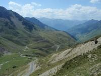 La montée vers le col du Tourmalet