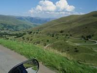 Descente vers Bagnères de Luchon après le col de Peyresourde.