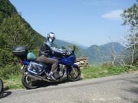 Petite pause pendant l'ascension du Col d'Agnès
