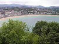Donostia San Sébastian - Vue de la baie depuis le Mont Urgull