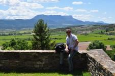 Vue depuis le château de Larrés
