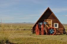 Maison en mongolie.