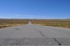 Flat road Mongolie