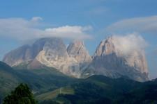 Juste avant le Passo di Pordoi (Dolomites, Italie)