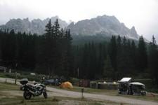 Camping à Misurina (Dolomites, Italie)