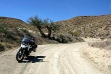 Entrée dans les canyons de Tabernas, 10 km au sud de Tabernas, Andalousie